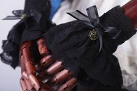 Lolita Women Lace Gloves Cosplay Retro Accsesory Gothic Costume Accessories Handwear Cosplay Accessories