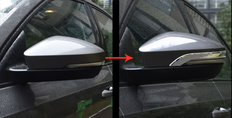 2pcs for Skoda Octavia 2015 2017 Rearview mirror Decorative strip in Chromium Styling from Automobiles Motorcycles