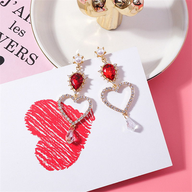 HTB1nh0Ol3nH8KJjSspcq6z3QFXaL - 2019 New Hot Sale 20 Style Red Fashion Korean Elegant Geometric Dangle Earrings for Women Cute Pendant Mujer Jewelry