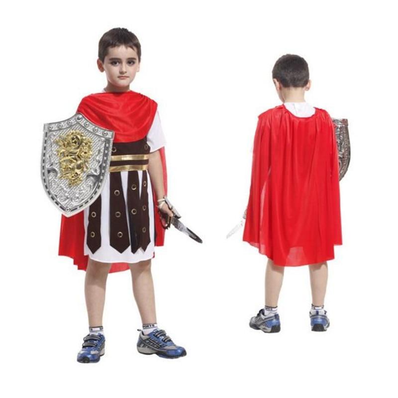 Halloween Ancient Rome Soldier Warrior Costume Cosplay Pentru Copii Copii Baieti Costum Cosplay
