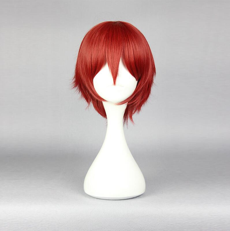Japanese Anime Assassination Classroom Akabane Karma Red Wig Cosplay Hair