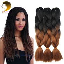 Ombre Kanekalon Braid Hair Jumbo Twist Expression Braiding Hair Extension Synthetic Tresses Xpression Crochet Braids Two Tone