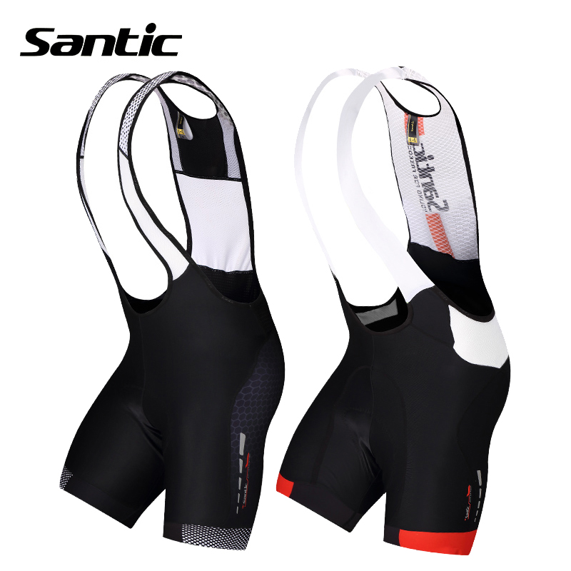 ФОТО Santic Cycling Shorts 4D Padded Breathable Quick Dry Mesh Brace MTB Shorts Mountain Road Bicycle Bike Shorts Bermuda Ciclismo