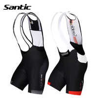 Santic Cycling Shorts 4D Padded Downhill MTB Bicycle Shorts Men Breathable Mesh Brace Mountain Road Bike Shorts Bermuda Ciclismo