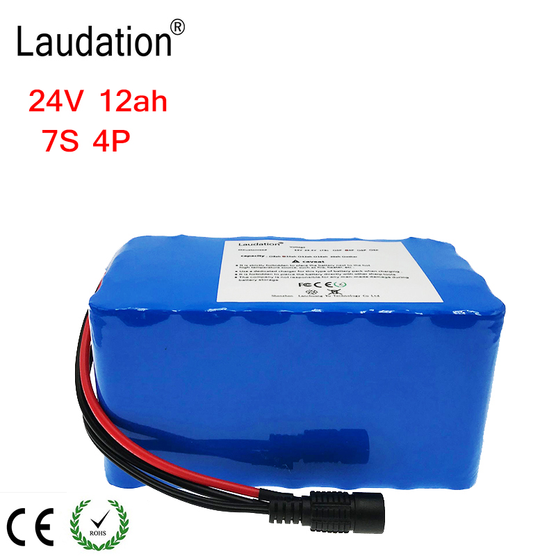 Laudation 24V 12ah Electric bicycle Lithium Ion Battery 29.4V 12800mAh 15A BMS 250W 350W 18650 Battery Pack Wheelchair MotorLaudation 24V 12ah Electric bicycle Lithium Ion Battery 29.4V 12800mAh 15A BMS 250W 350W 18650 Battery Pack Wheelchair Motor
