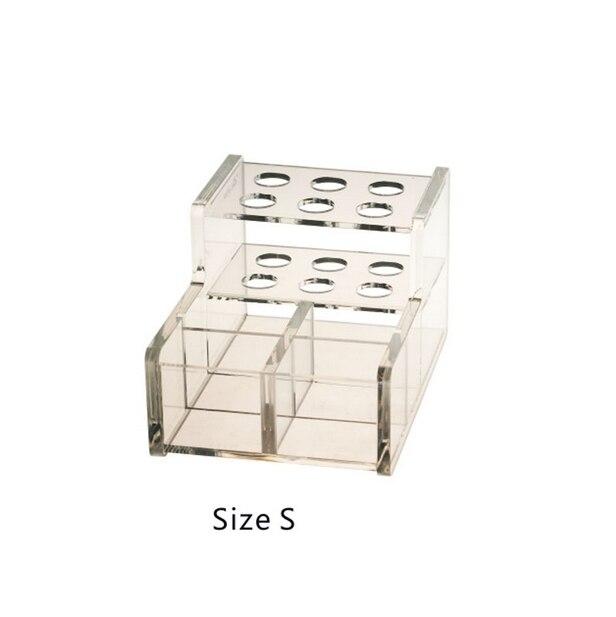 1PC Transparent Dental Adhesive Resin Syringe Acrylic Organizer Holder Case size s
