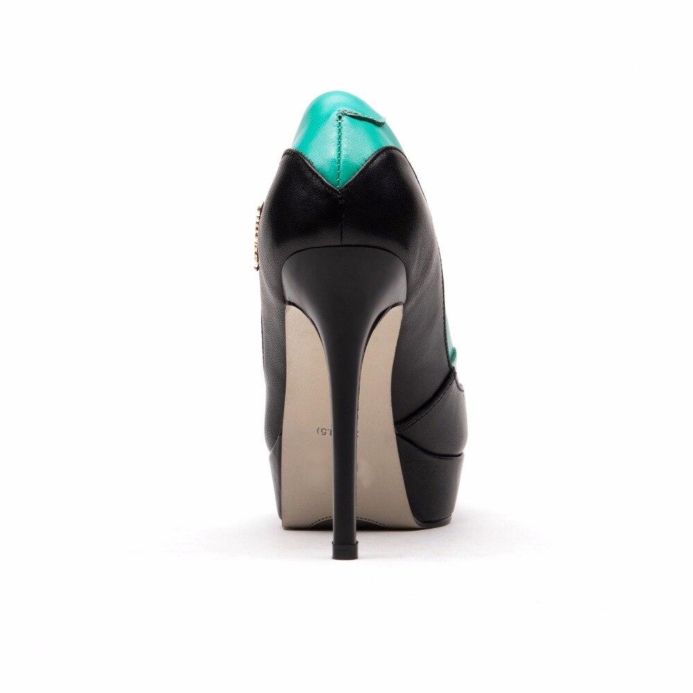Office En La 2018 Cm Style Glissement Chaussures Lady Furtado Plate Véritable 11 Sur Printemps Automne Talons forme Cuir Élégant Green Arden Pour Femme Haute yellow Nouveau g7Ypqnn