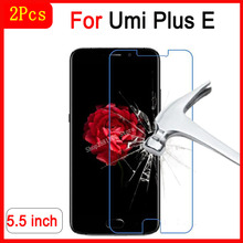2PCS Premium For Umi Plus E Tempered Glass For Umi Plus E 5.5inch Glas Screen Protector Scratch-proof Protective Phone Film Case