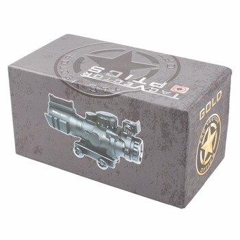 Vector Optics Goliath 4x32 Tactical Compact Mirino Ottico Sight Tri-Illumination Chevron Reticolo Di M4 AR15. 223 Campo Di Applicazione