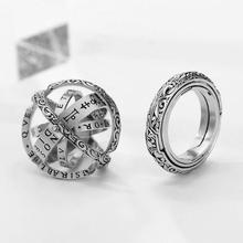Cosmic Astronomical Ball Ring Retro Flip Ball Creative Student Stack Ring Holiday Gift Couple Jewelry Gifts high quality astronomical ball cosmic rings gold silver universe constellation finger ring couple lovers creative jewelry gifts