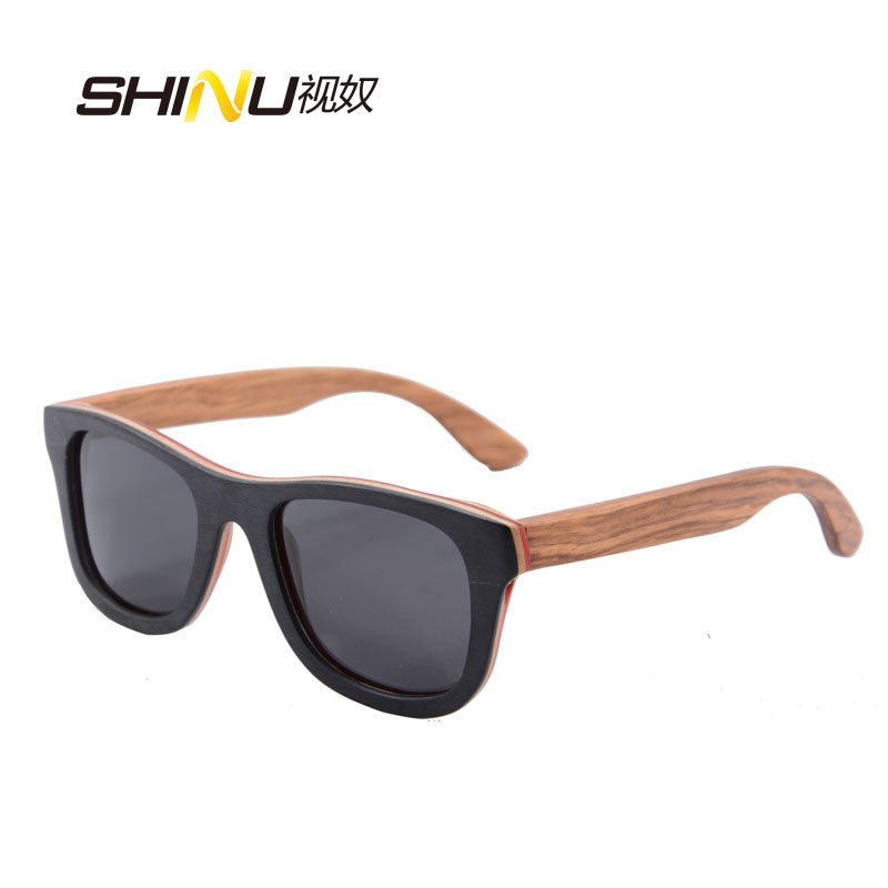 Horn Rimmed Real Wooden Sun Glasses Women Men Polarized Wood Sunglasses Oculos De Sol Feminino Handmade Glasses Gunes Gozlugu  Horn-rimmed glasses