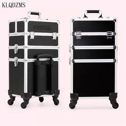 KLQDZMS Высокое качество для женщин профессиональный макияж кейс на колесиках чемодан для косметики большой емкости чемодан на колесиках