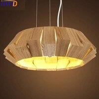 IWHD Wood Led Hanging Lights Modern Fashion Restaurant Lamparas De Techo Colgante Moderna Creative Living Room