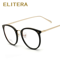 ELITERA Novo Espetáculo Óptico Óculos Armação Homens Mulheres Óculos Retro Vintage Mulheres Marca Designer Oculos de grau Femininos