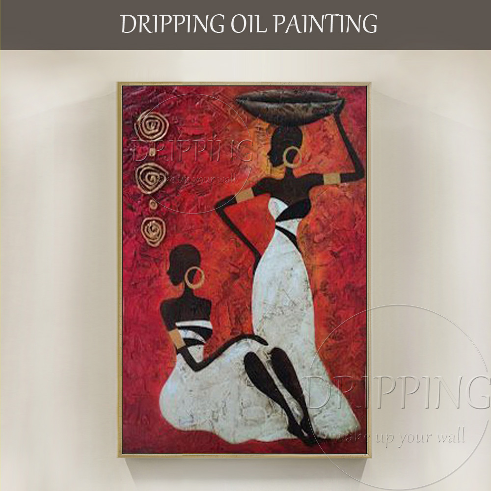 Skilled Artist Handmade High Quality Abstract African Portrait Oil Painting on Canvas Woman