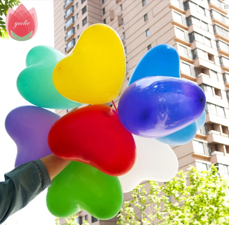 Free Shipping 10pcs/lot 10 inch heart latex balloon air balls inflatable wedding birthday party decoration Float balloons toys