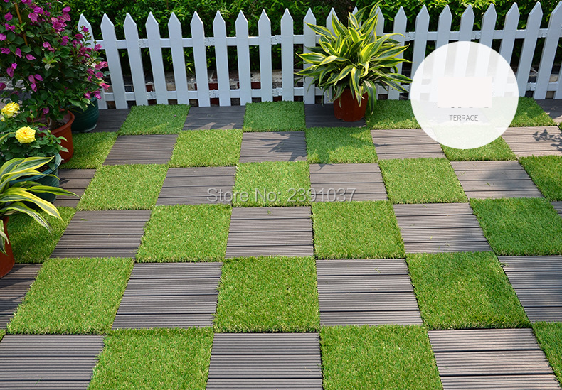 New Decorative Artificial Grass Turf Floor Tiles New
