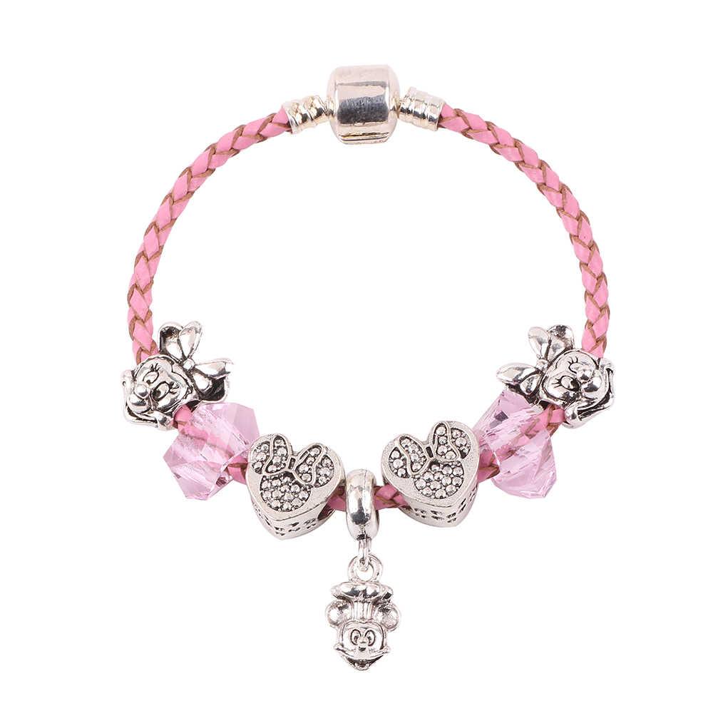 0730372c18e3 Original lindo colgante de Mickey Minnie perlas regalo de los niños de la alta  calidad DIY