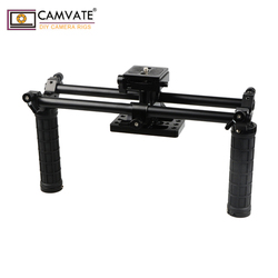 CAMVATE Double-rod System Cage Kit DSLR Camera Holder Universal Use C1916