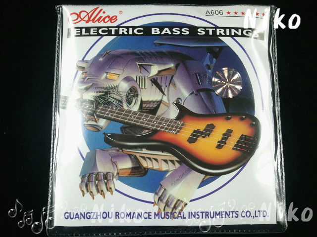 Alice A606 Light/Medium Electric Bass Strings 4 Steel Nickel Alloy Wound Stings 045-105(045-105)in. Free Shipping