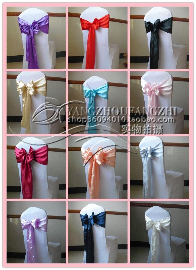 Shaoxing County Yangzhou Textile Co., Ltd. free shipping satin  chair sash for weddings/chair sash/chair tie back