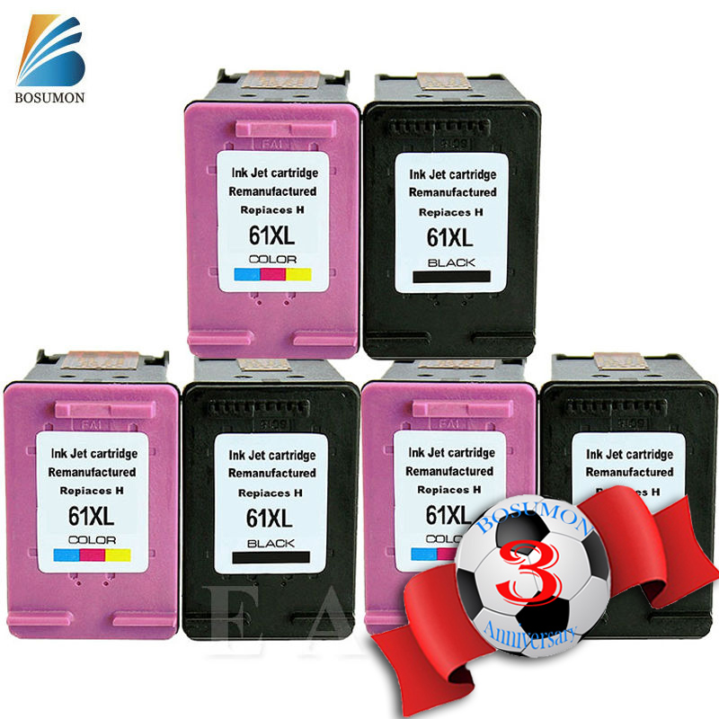 For HP 61XL For hp 61 Ink Cartridge For HP 61 XL Deskjet C4635 C4640 C4650 C4680 C4740 C4750 C4780 C4795 D2530 D2545 D2560 2pcs set 60xl refilled ink cartridge replacement for hp 60 xl for deskjet d2530 d2545 f2430 f4224 f4440 f4480 envy c4650 c4680
