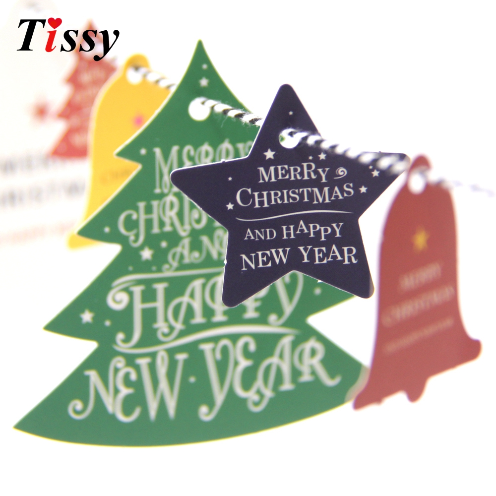28PCS Paper Tags Kraft Paper Card Tags Labels Christmas Cards DIY ...