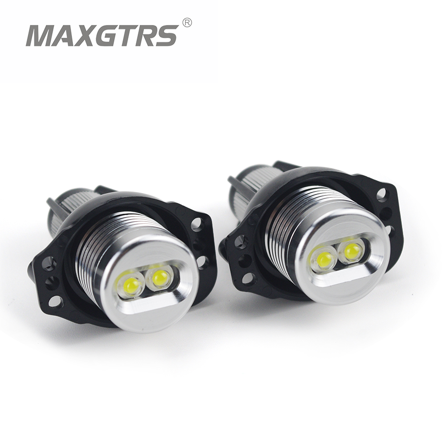 2x 6W 12W LED Halo Ring Marker Angel Eyes Bridgelux Chip 7000K XENON White/Blue/Red DRL For BMW E90 E91 Car Styling