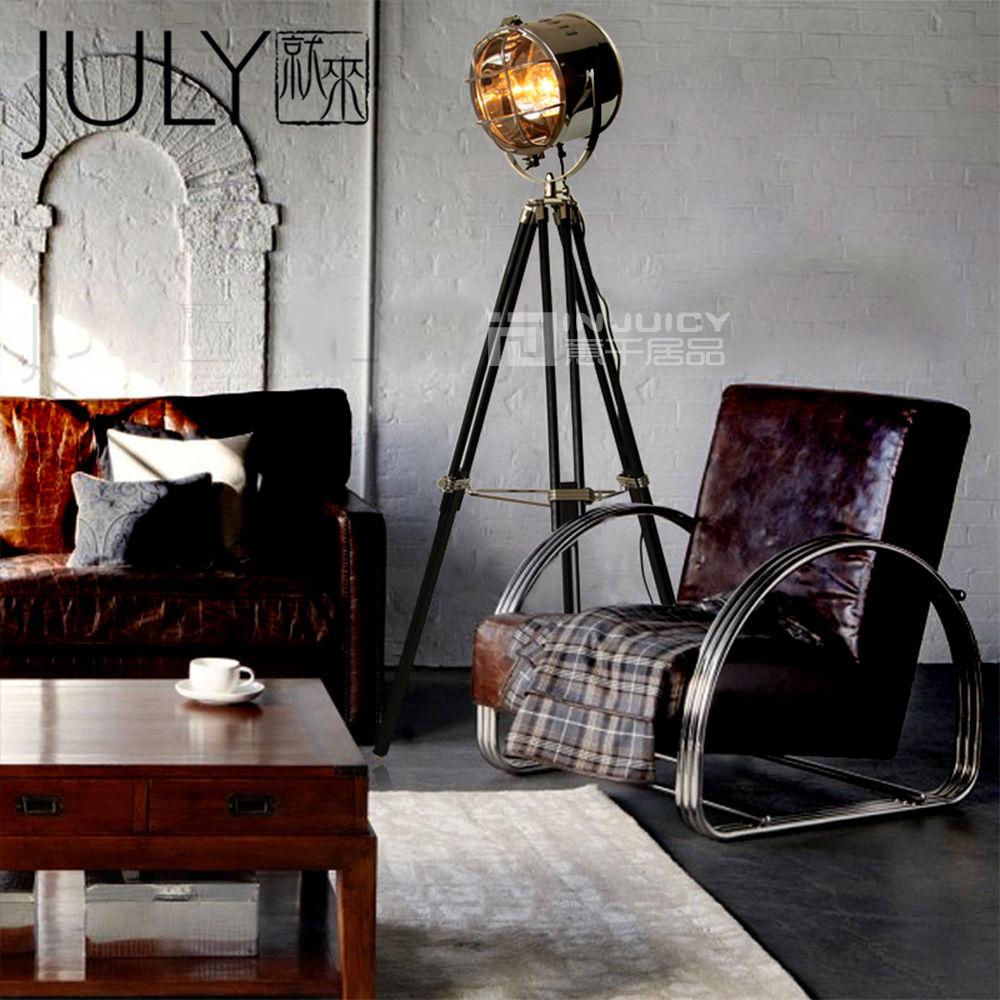 Retro Vintage Home Decor: Nordic Loft Industrial Vintage Tripod Floor Lamp Retro