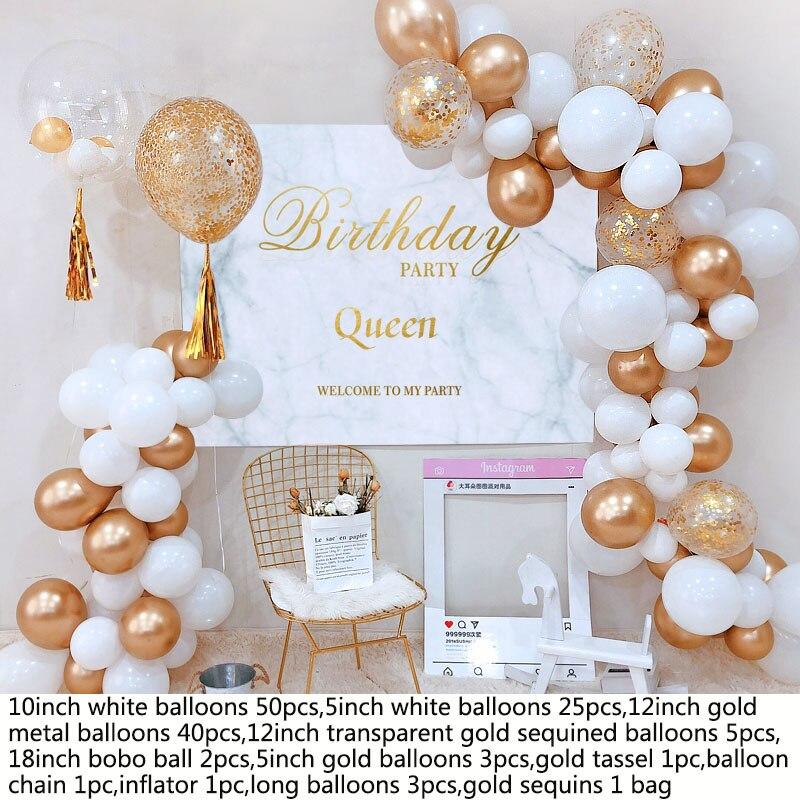 25pcs 12 inch Gold Wedding Balloons Party Decoration DIY AD