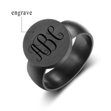 Fashion Trendy Customized Stainless Steel Ring