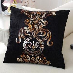 Европейский стиль, роскошная бронзовая подушка, чехол для подушки, Золотой Розовый велюровый чехол для подушки, обеденный стол, стул, диван, ...