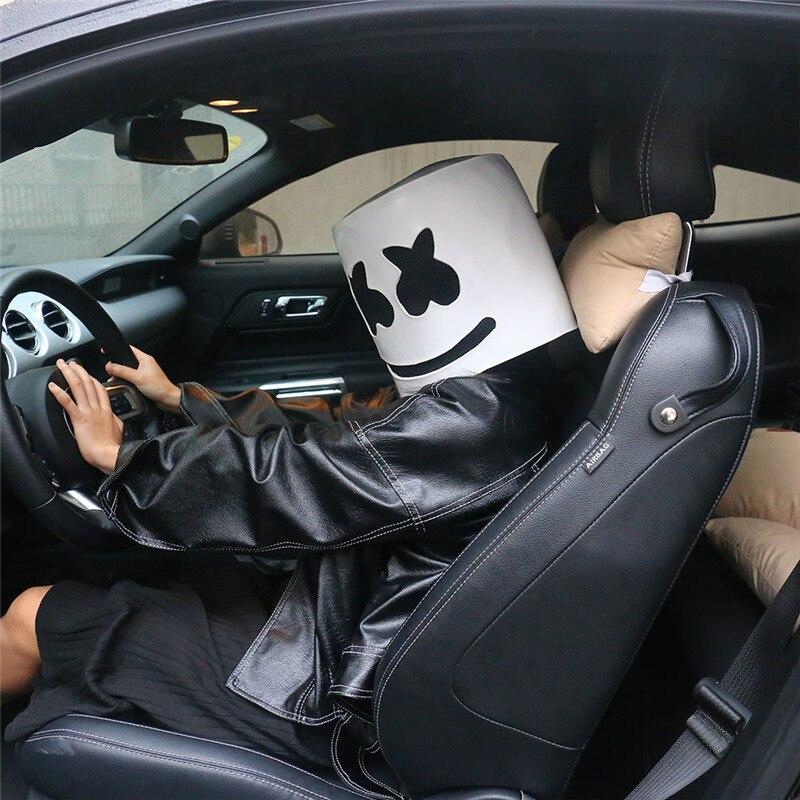 Marshmello DJ Mask Latex Full Mascot Head Custom Helmet Halloween Cosplay Party!