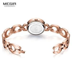Image 3 - Relogio feminino Women Watches MEGIR Luxury Brand Girl Quartz Watch Casual Leather Ladies Dress Watches Women Clock Montre Femme