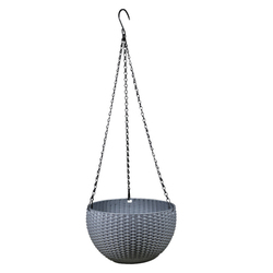 VIXTMAX 3 Color Round Mimetic Rattan-Woven Pattern Hanging Baskets Plastic Flower Pot Self-Watering Scindapsus Plant Holder Hot