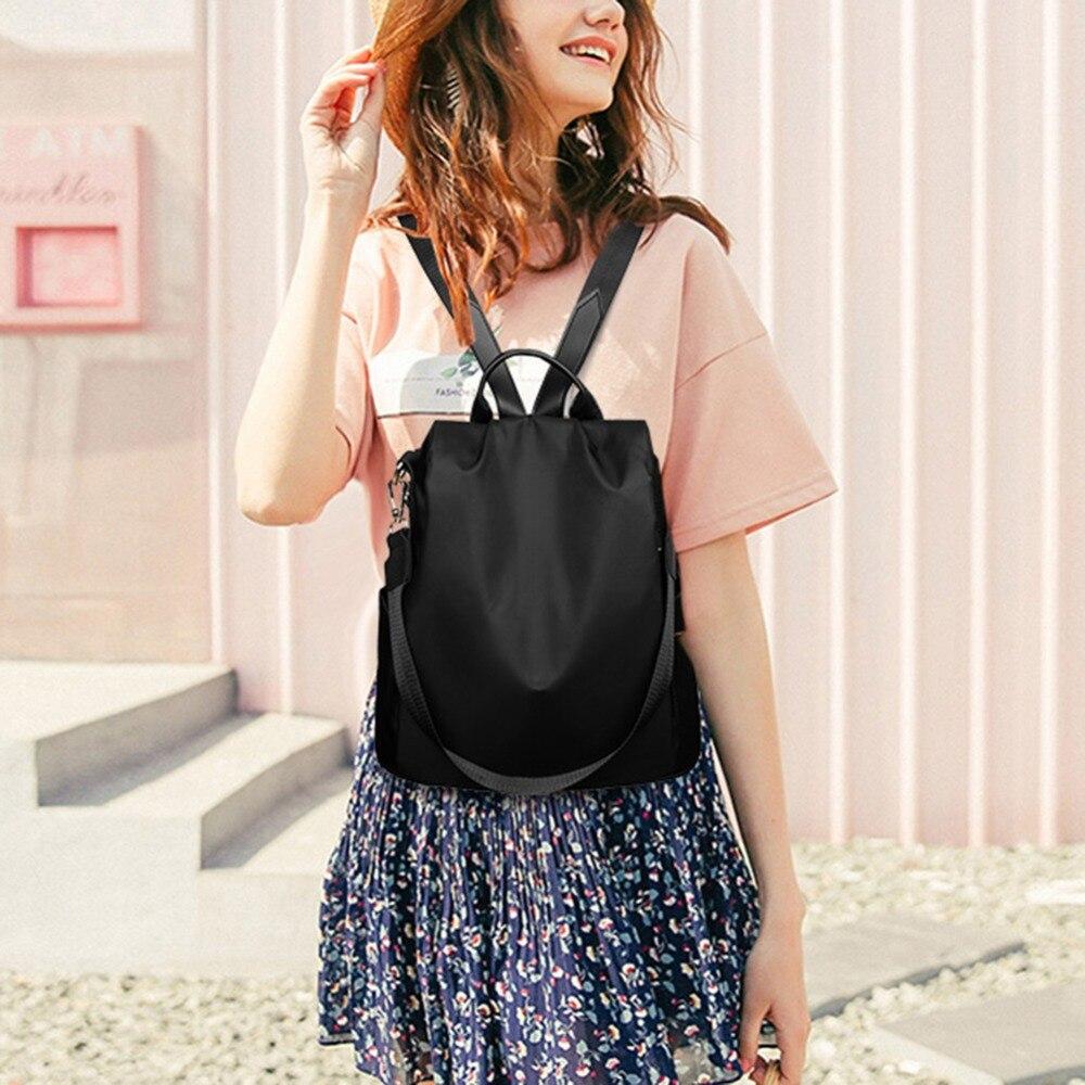 HTB1nh4lbEGF3KVjSZFoq6zmpFXau Casual Oxford Cloth Women Backpack Anti Theft Girls Schoolbags Teenager Travel Daypack Shoulder Bag Colorful Fashion Back Pack