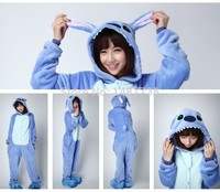 Kigurums New Winter Animal Stitch Onesie Unisex Costumes Sleepsuit Adult Cartoon Sleepwear Pajamas Cosplay
