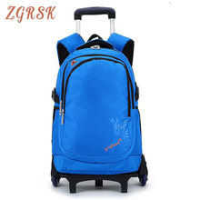 Large Capacity Trolley Bags For Laptop Boys High Quality 6 Wheels Waterproof Trolley Backpack Luggage Wheeled Carry-ons Bags large capacity kids rolling backpacks for boys student trolley backpack luggage six or two wheels unisex trolley school bags