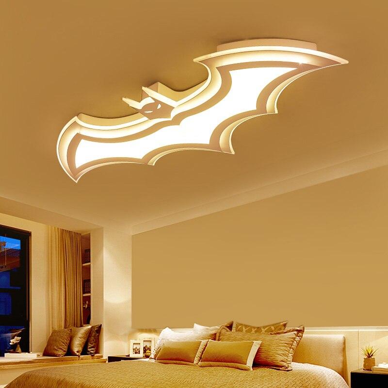 Светодиодные потолочные светильники с Бэтменом для детской комнаты, спальни, балкона, дома, Dec AC85 265V, акриловые современные светодиодные потолочные лампы для детской комнаты