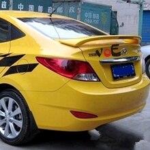 2010-2015 Verna ABS Plastic Unpainted Primer Rear Wing Trunk Spoiler+Light for Hyundai Verna