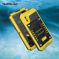 Outdoor Swim Waterproof Cover For Apple iphone X Case Metal Alloy With Glass Film Military For iphone 8 8 Plus Phone Cases