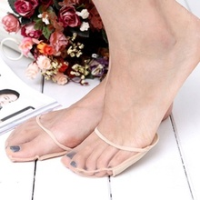 Thick Flesh Color Invisible Foot Toe Socks  Pad Mat Half  Pad  Transparent Breathable Gauze Sponge Pad Insole Socks