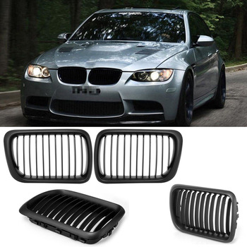 1 Pair High Quality ABS Front Hood Kidney Grille Grills Gloss Black Fit BMW E36 3-Series 1997 1998 1999 Auto Car Styling P8 image
