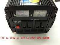 DC12V to AC220V / DC24V to AC220V Power Inverter 3000W 6000W peak with charger modified wave UPS inverter