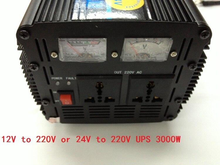 DC12V to AC220V or DC24V to AC220V 50HZ optional Power Inverter 3000W 6000W(peak) with charger,UPS peak power 10000w power inverter continous power 5000w ups dc12v to ac220v or dc12v to ac220v 50hz with charger ups function