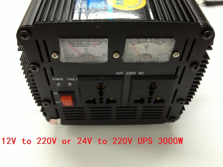 Modified wave inverter 3000W DC24V to AC220V 20A UPS Universal Uninterrupted Power Supply 3000w dc24v to ac220v modified wave power inverter charger