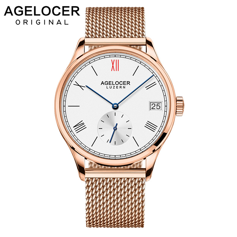 AGELOCER Watch Switzerland Brand Role Watches Mechanical Mens Watch Luxury Famous France Genuine Leather Male ClockAGELOCER Watch Switzerland Brand Role Watches Mechanical Mens Watch Luxury Famous France Genuine Leather Male Clock