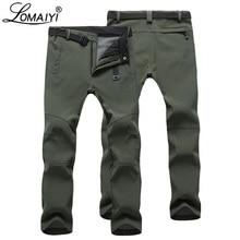 2017 Winter Warm Waterproof Softshell Men Casual Pants With Fleece Men's Style Trousers Shark Skin Windproof Male Pants,AM054