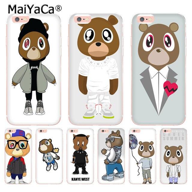 4425f3e4b20515 MaiYaCa kanye west bear yeezus soft tpu phone case cover for Apple iPhone 8  7 6 6S Plus X 5 5S SE 5C 4 4S case