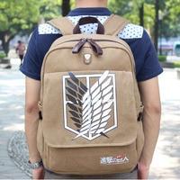 Anime Attack on Titan Backpack School Bag Shoulder Bag Canvas Backpack Cosplay Prop Gift Novelty Toy